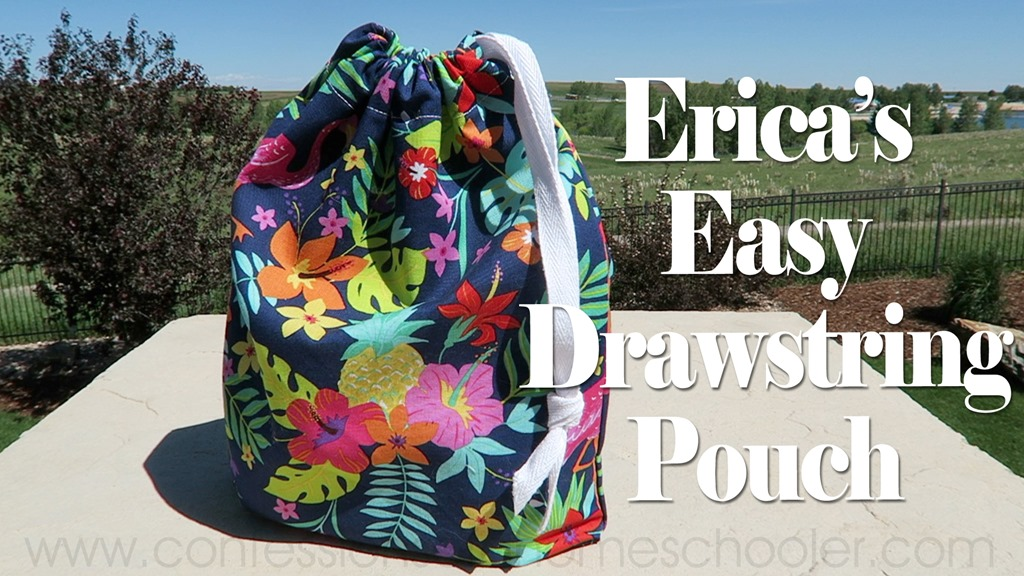 Super Easy Draw String Bag Tutorial