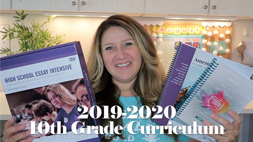 2019-2020 10th Grade Homeschool Curriculum