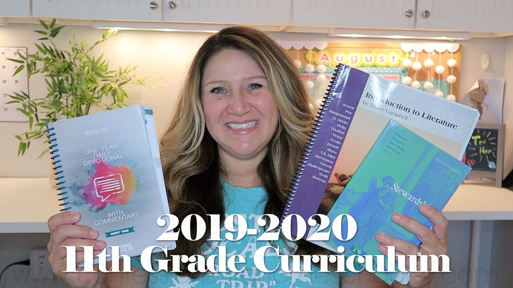 2019-2020 11th Grade Homeschool Curriculum