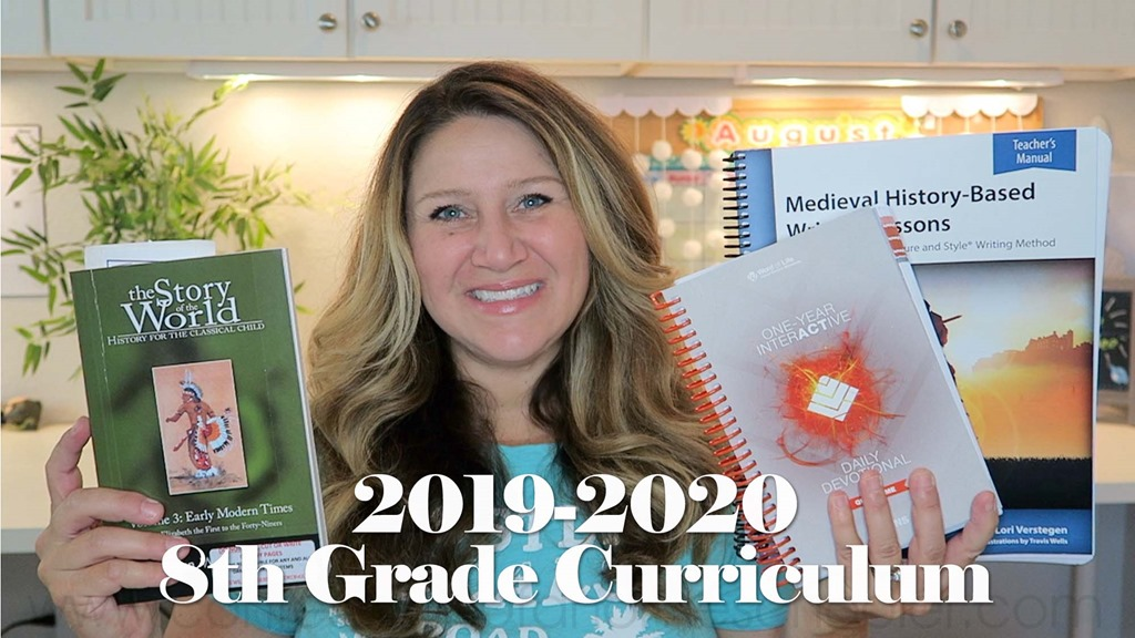 2019-2020 8th Grade Homeschool Curriculum