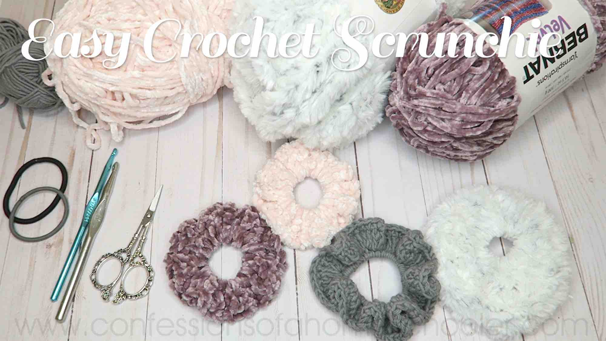 Easy Crochet Scrunchie Tutorial