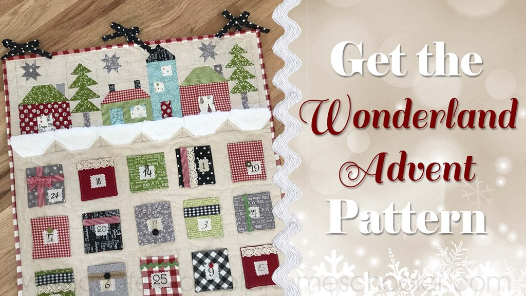 Wonderland Advent Calendar Pattern
