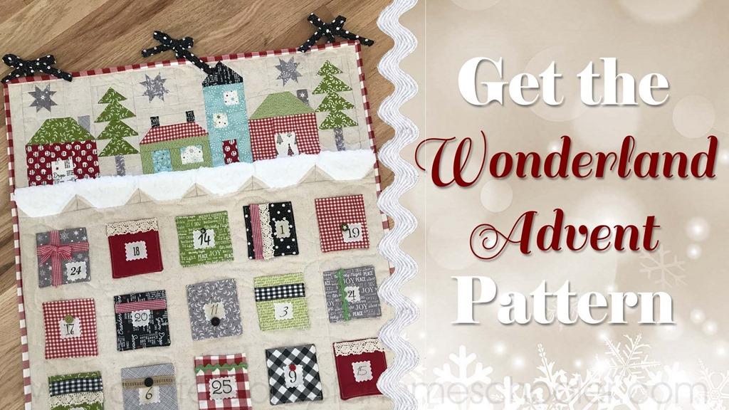 Wonderland Advent Calendar Pattern