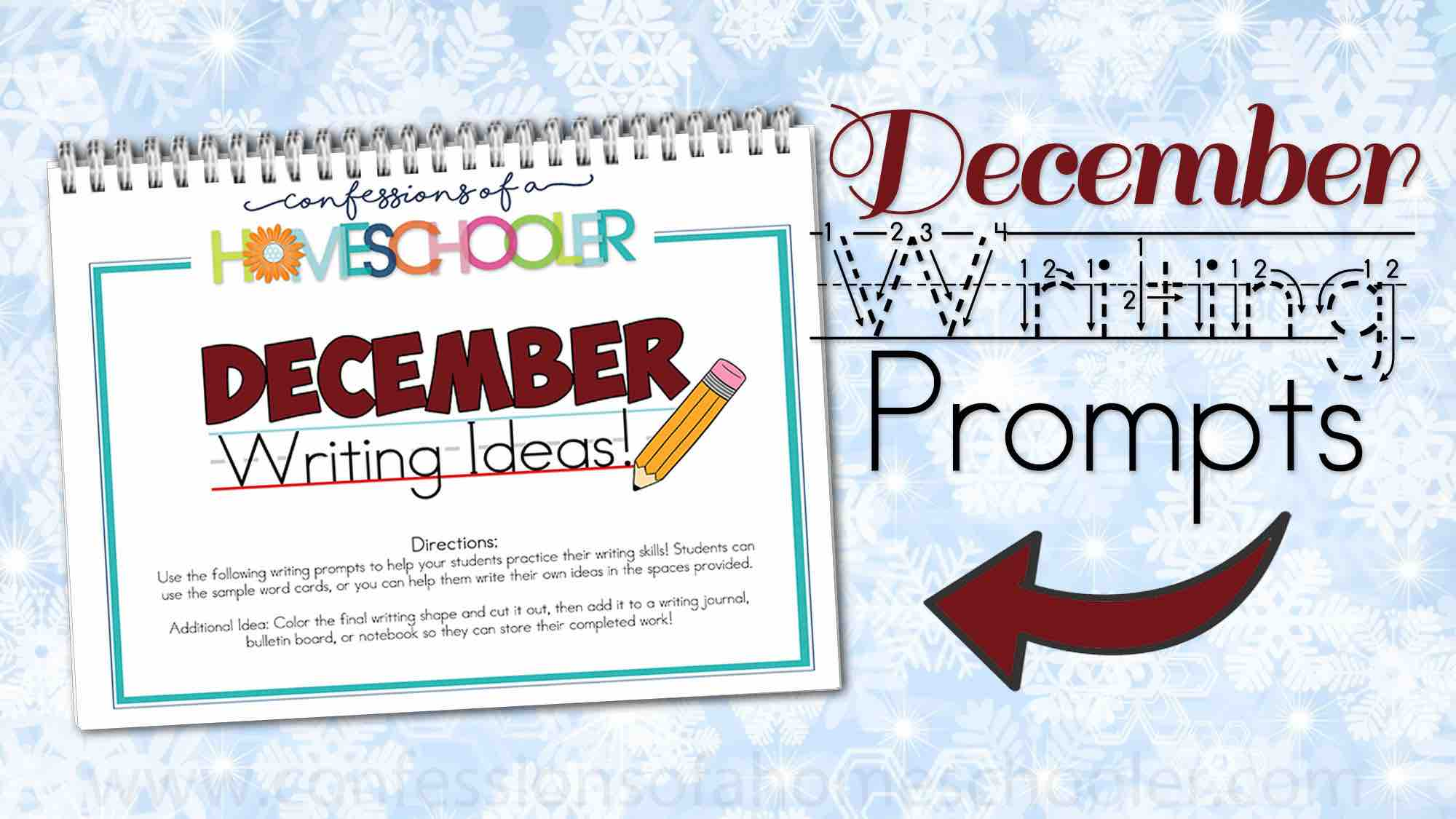 December Kindergarten Writing Prompts