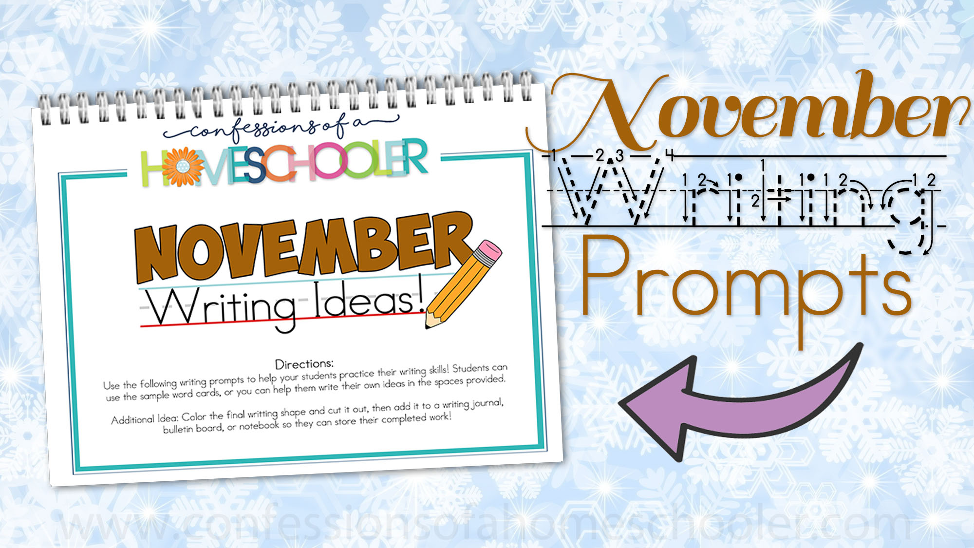 November Kindergarten Writing Prompts