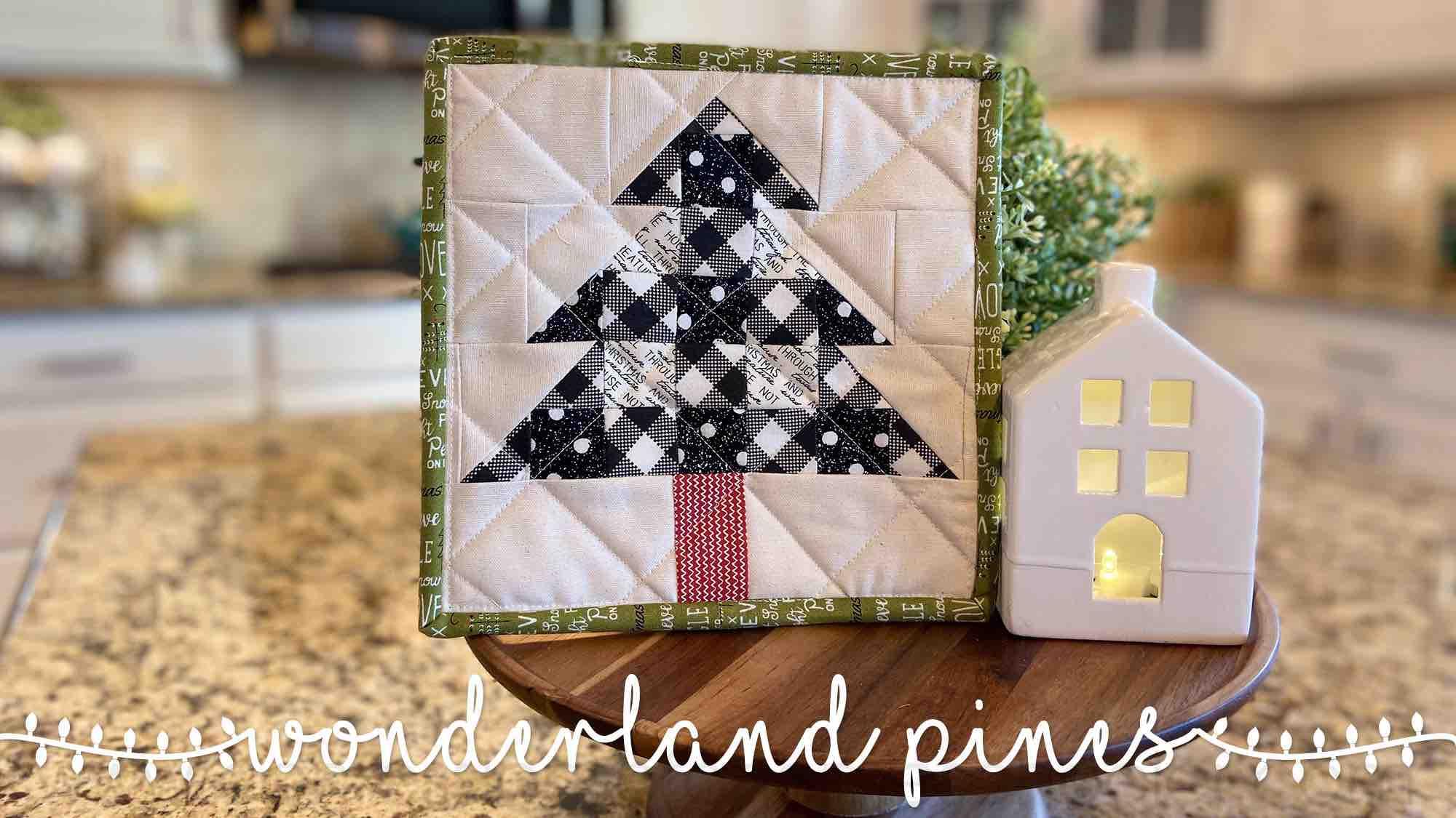 Wonderland Pines Pot Holder Pattern