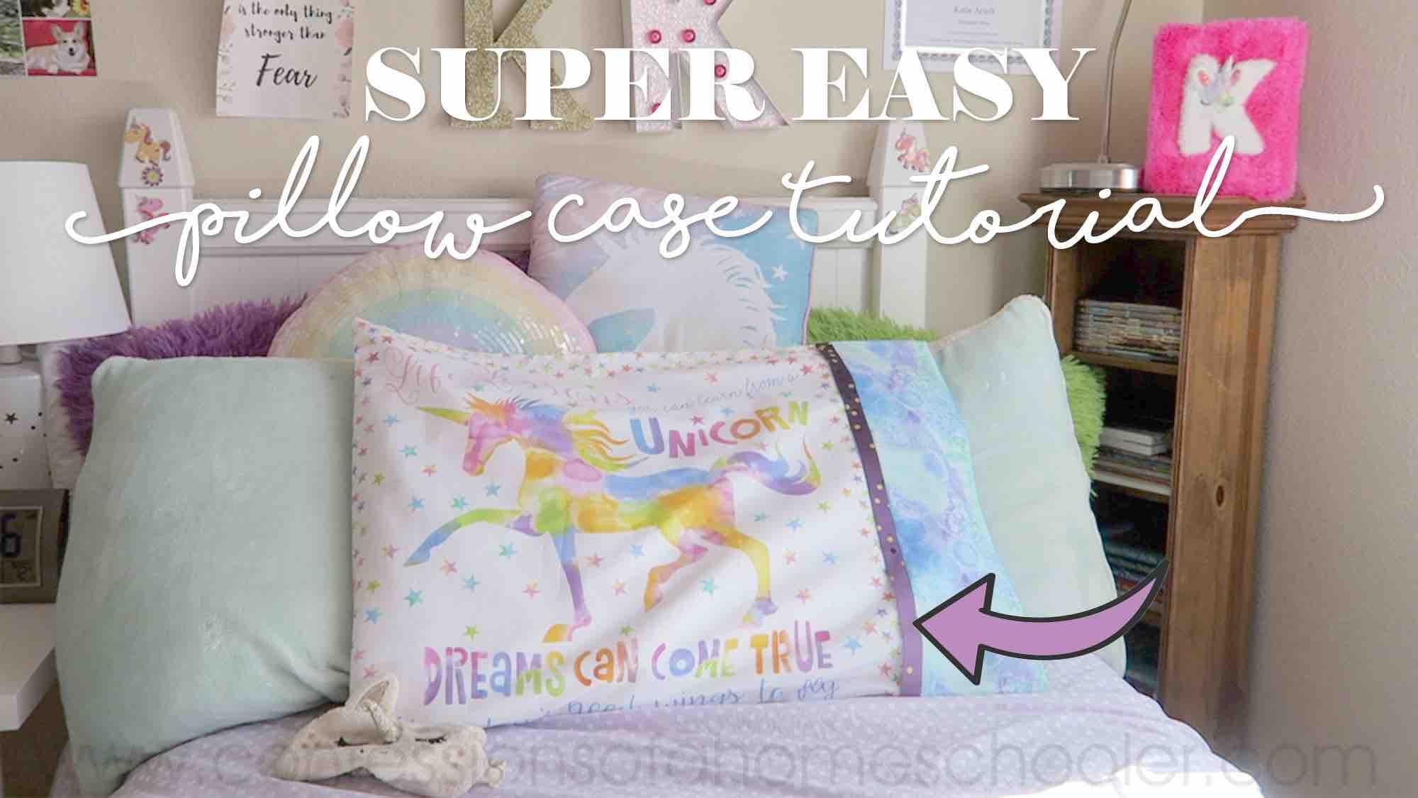 DIY EASY Pillow Case Tutorial