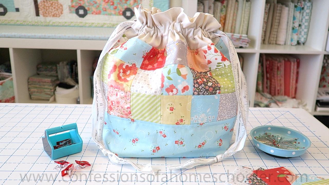 Drawstring Squishy Bag 2 Finished