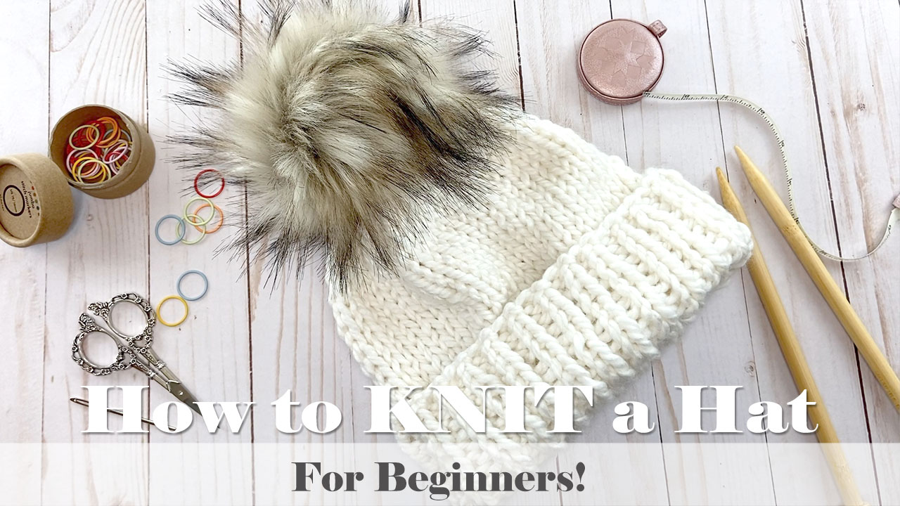 How to Knit a Hat for Beginners // TUTORIAL