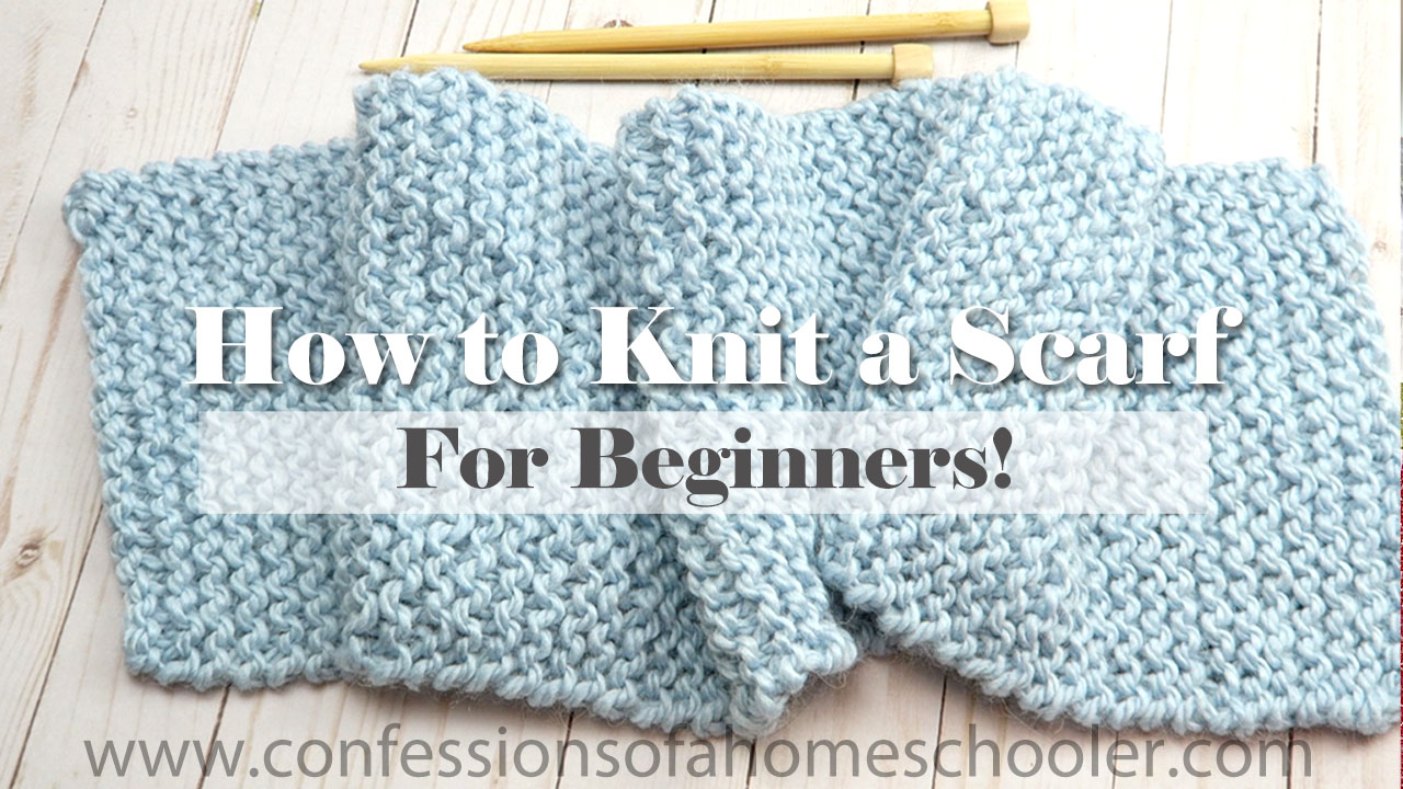 How to Knit a Scarf for Beginners // Tutorial