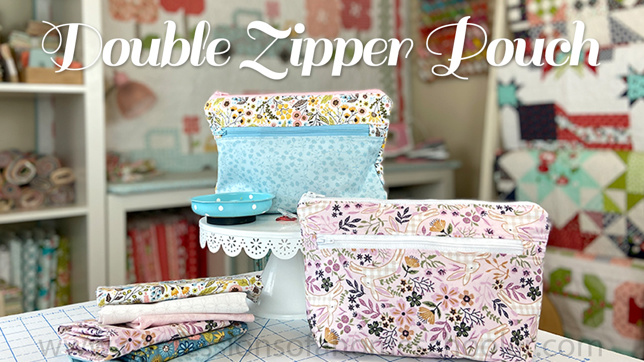 Erica's Double Zipper Pouch / Sewing Tutorial