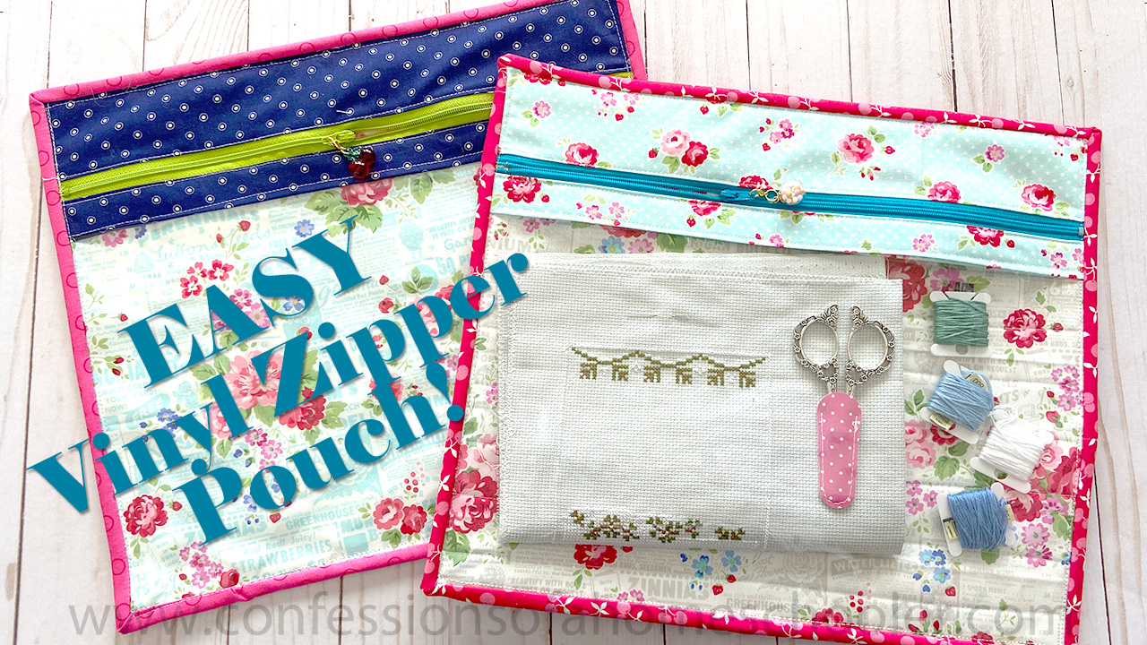 EASY Vinyl Zipper Pouch