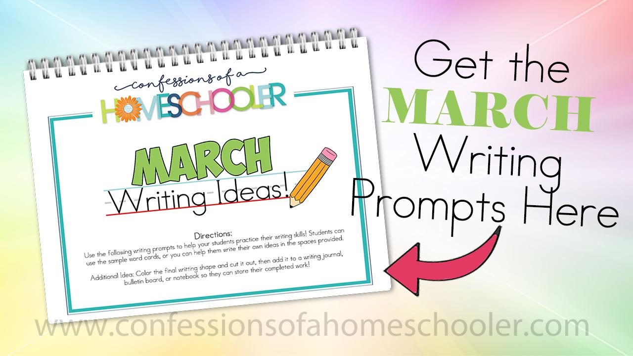 March Kindergarten Writing Prompts