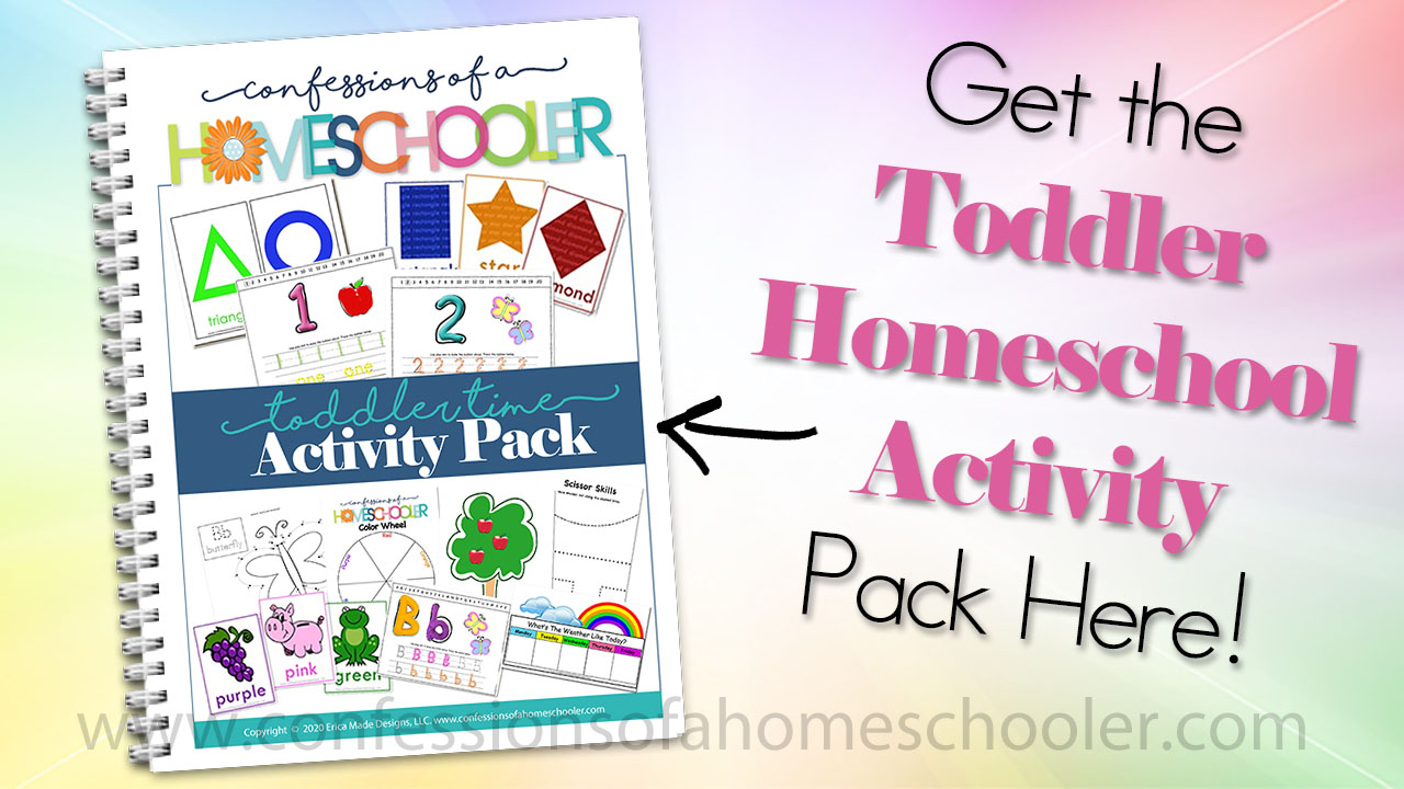Toddler Homeschool Activity Pack