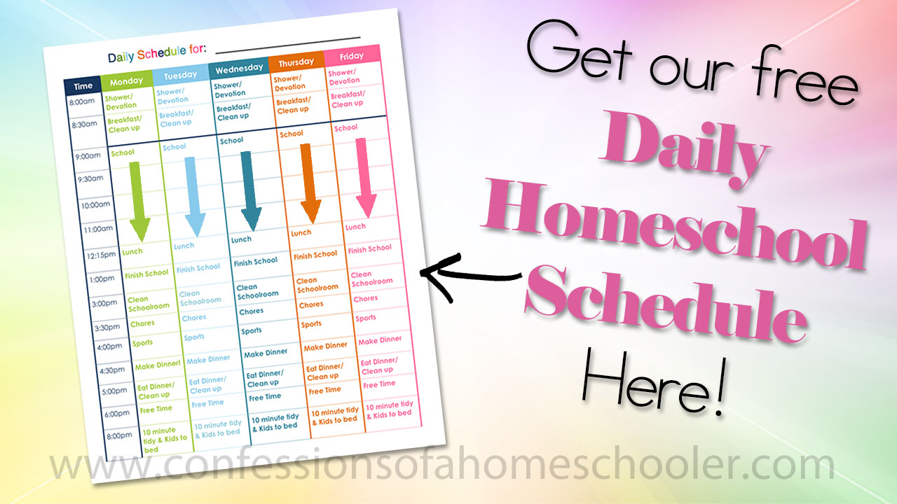 Our Daily Homeschool Schedule