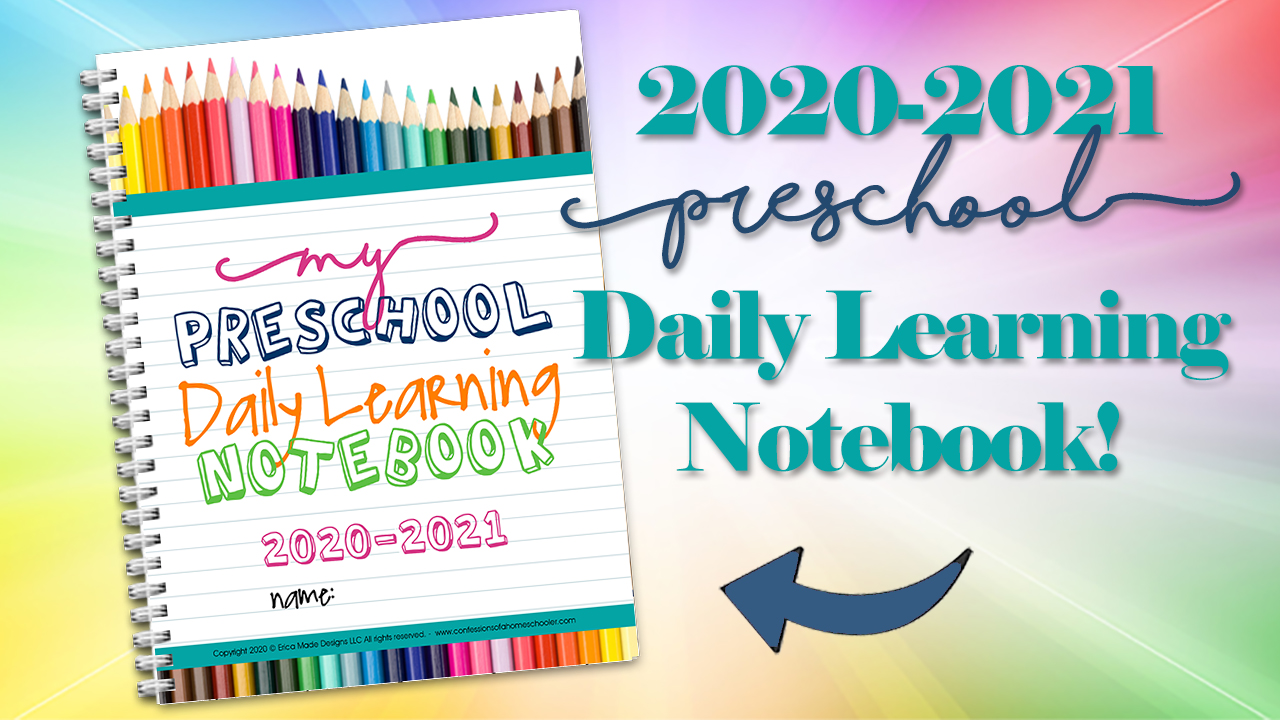 2020-2021 Preschool Daily Learning Notebook