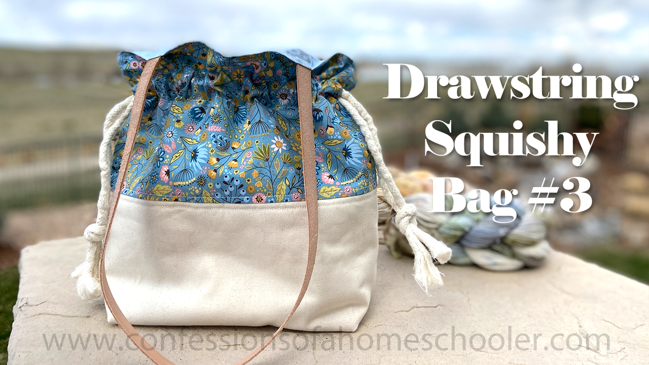 Drawstring Squishy Bag 3 / TUTORIAL