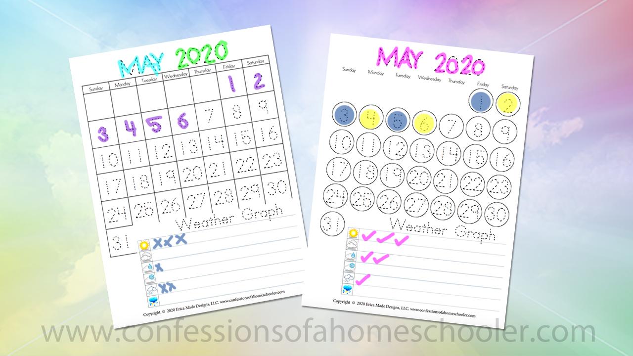 May 2020 Printable Calendars