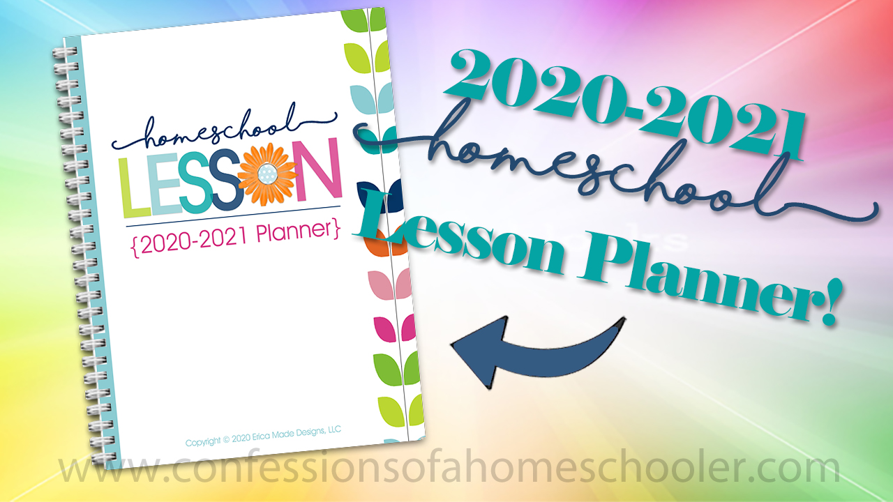 2020-2021 Homeschool Lesson Planner PDF