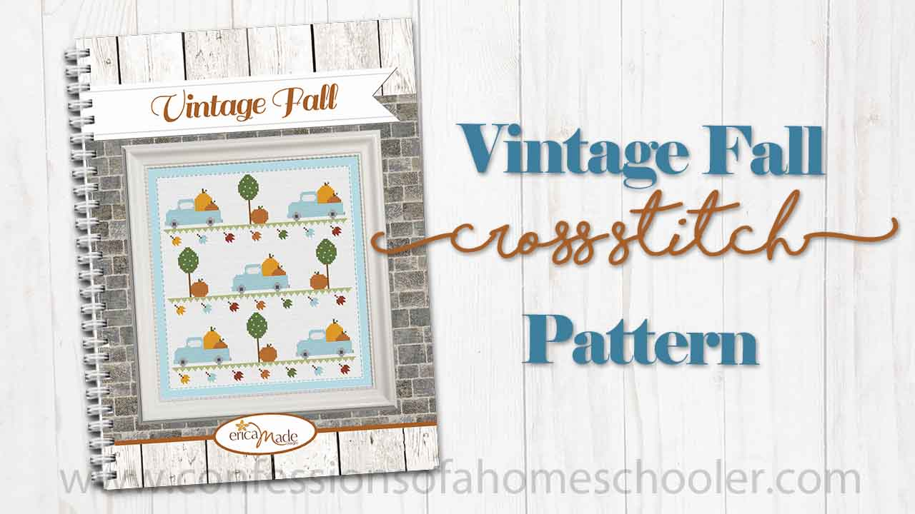 Vintage Fall Cross Stitch Pattern