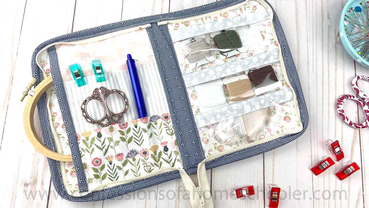 Zip Around Notions Pouch Sewing Tutorial