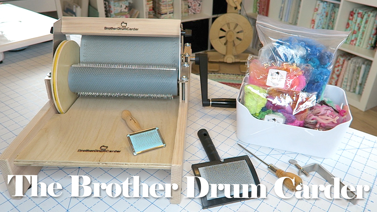 Brother Drum Carder Unboxing & Review