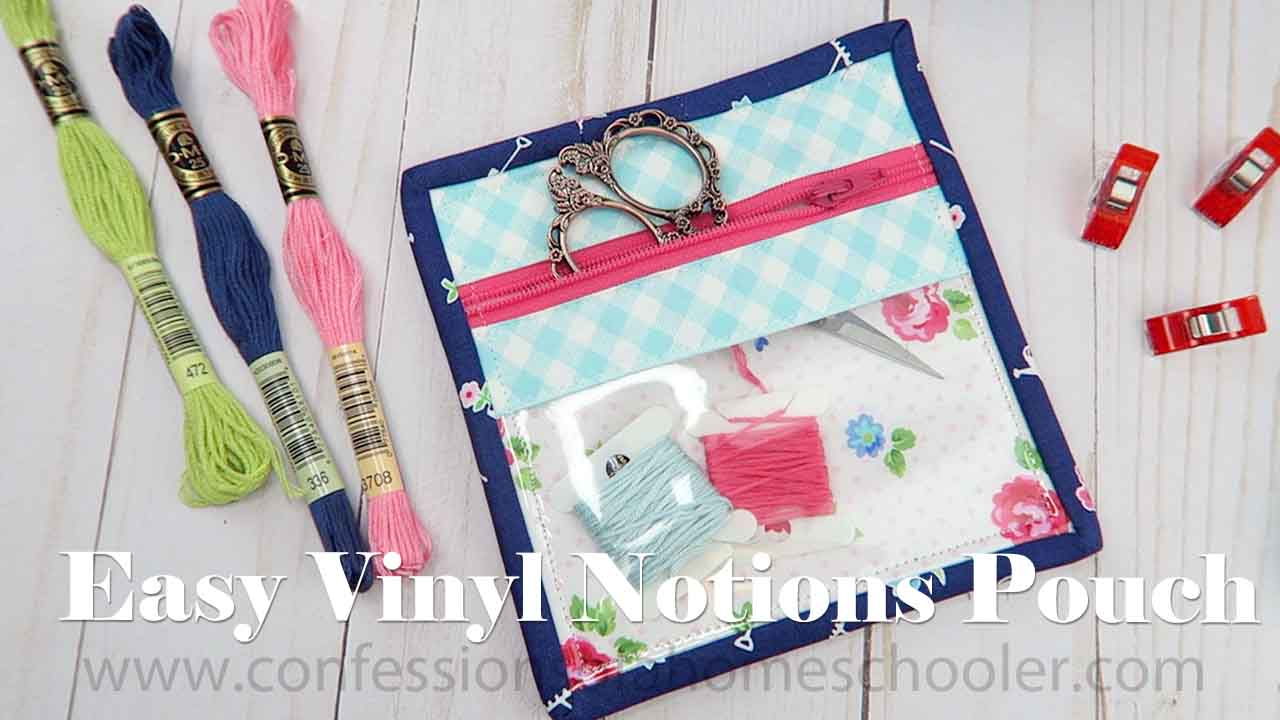 Mini Vinyl Notions Pouch