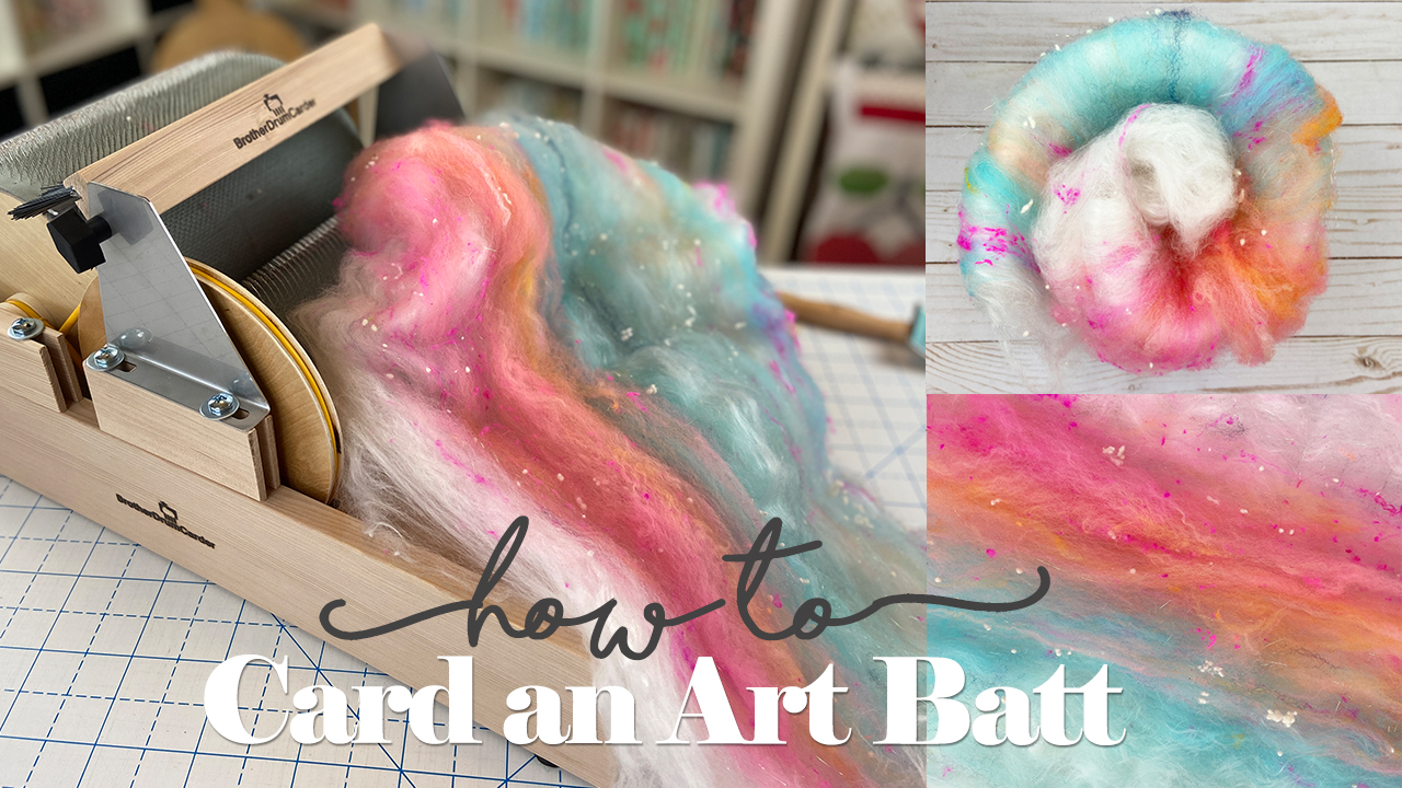 How to Card an Art Batt // TUTORIAL
