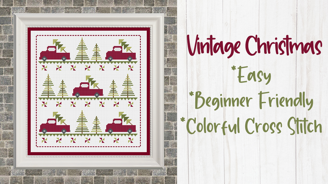 Vintage Christmas Cross Stitch Pattern