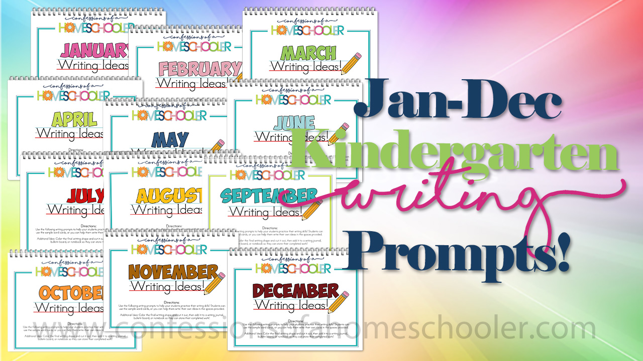 January – December Kindergarten Themed Writing Prompt Worksheets