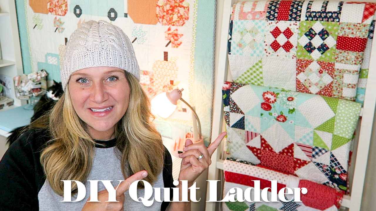 DIY Quilt Ladder / Tutorial