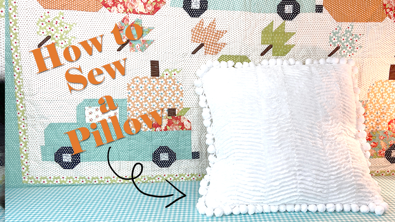 Faux Fur Trimmed Pillow Sewing Tutorial