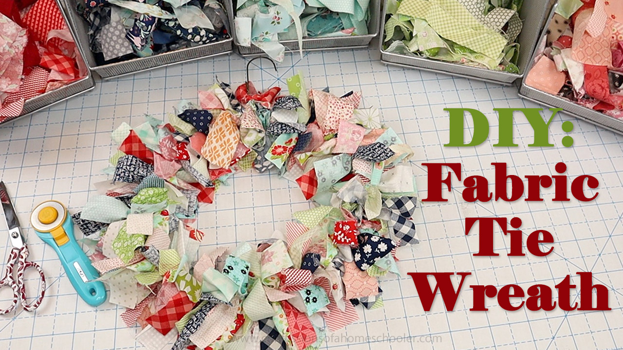 Fabric Tie Wreath // DIY