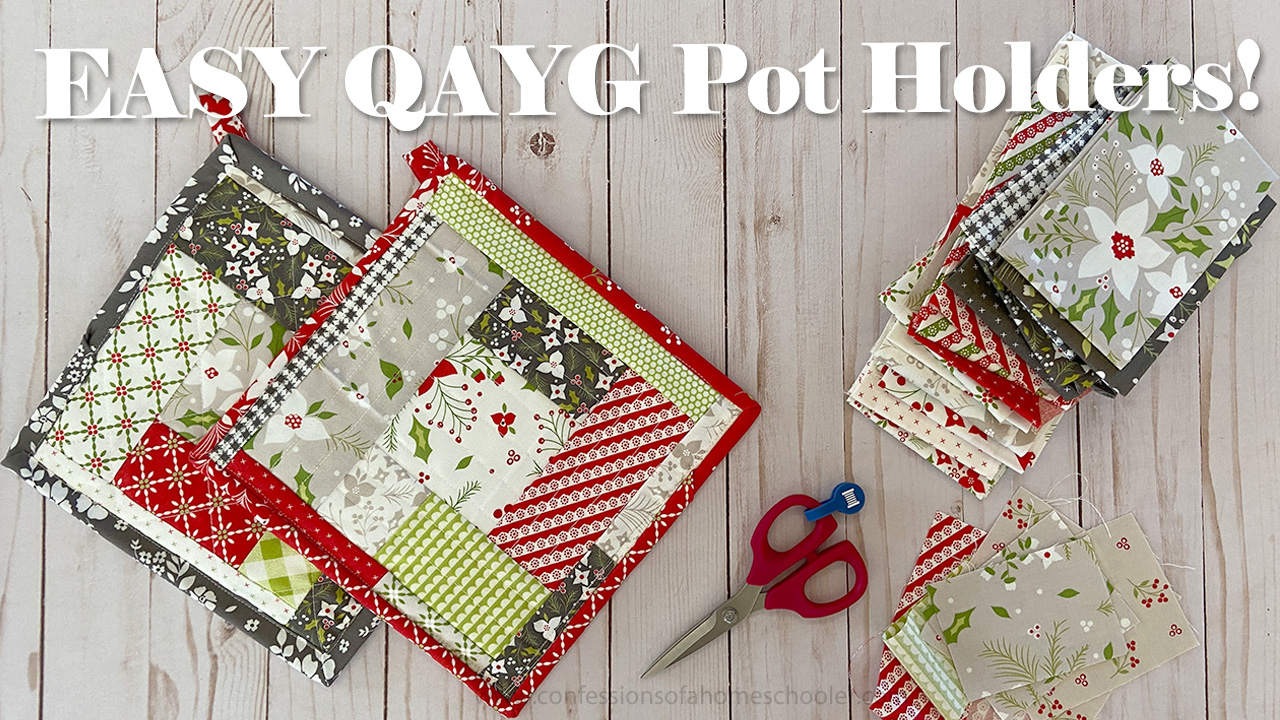 QAYG Quilt As You Go Easy Pot Holder Tutorial