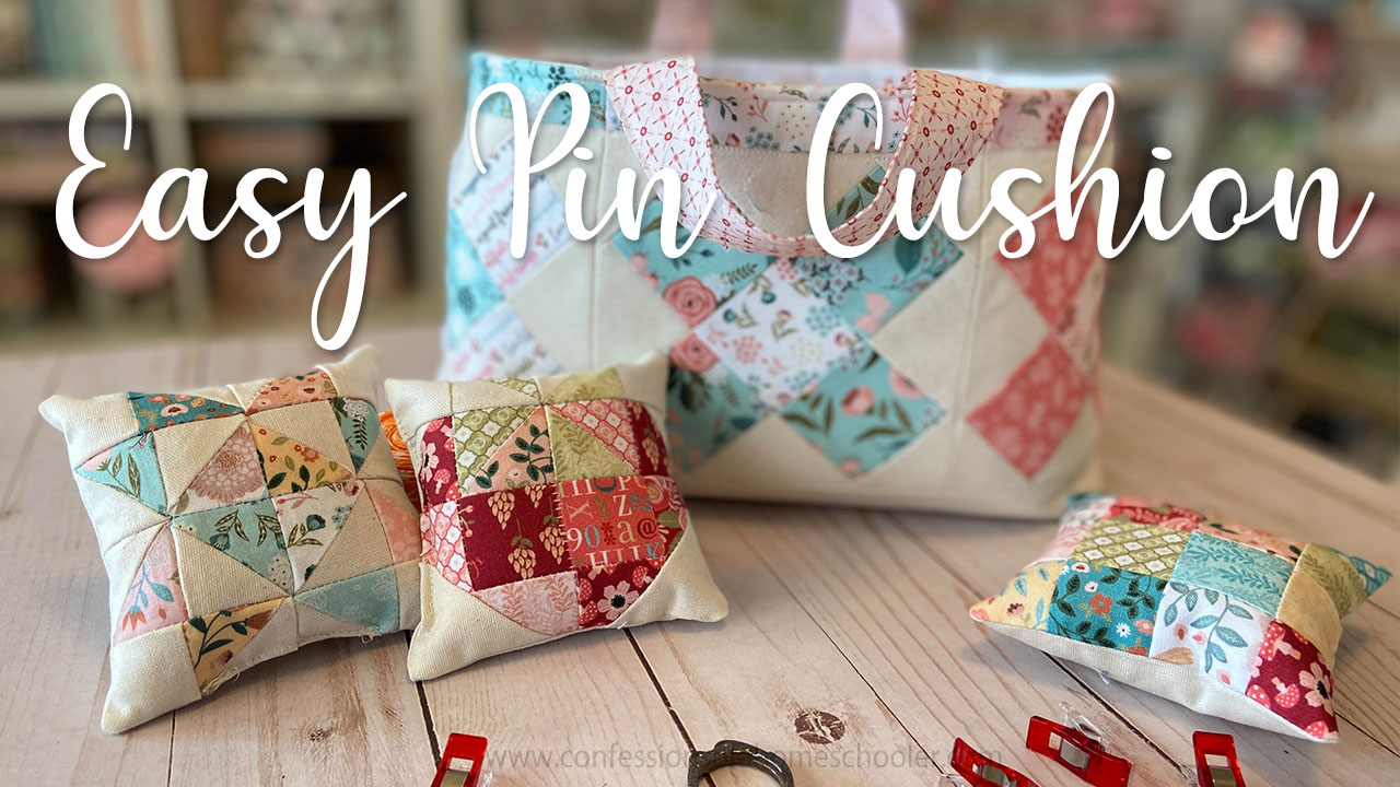 Easy Quilty Pin Cushion Tutorial!