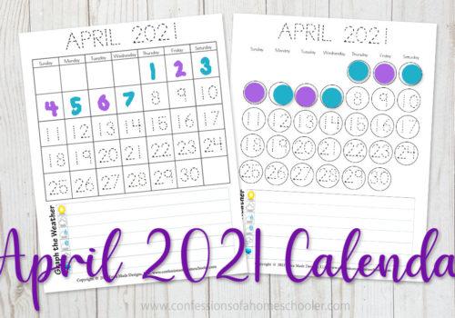 April 2021 Printable Calendars