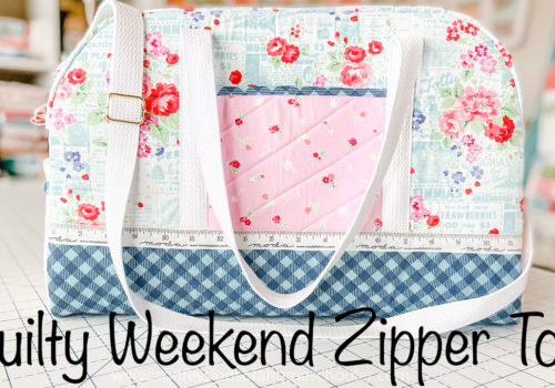 Quilty Weekend Zipper Tote // Tutorial!