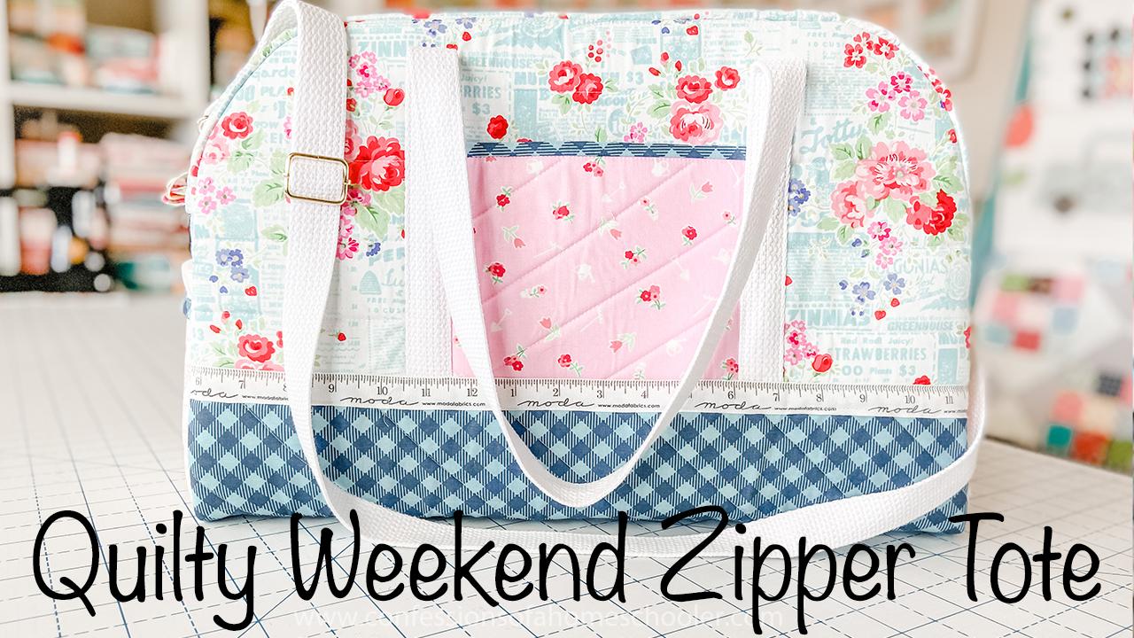 Quilty Weekend Zipper Tote // Tutorial!