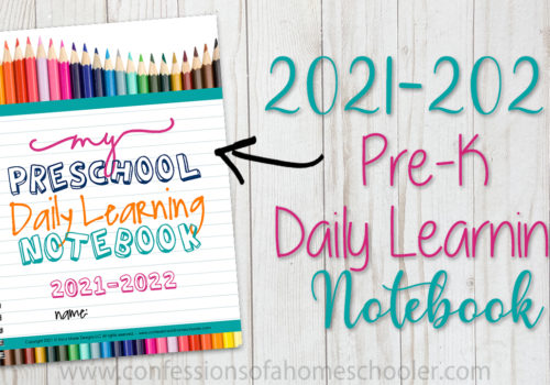 2021-2022 Pre-k Daily Learning Notebook