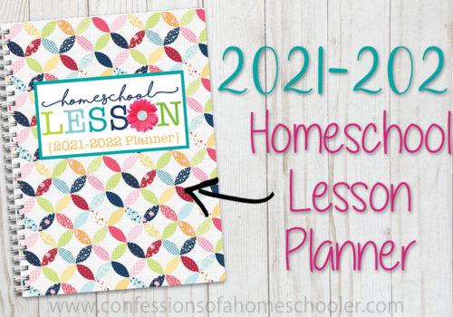 2021-2022 Homeschool Lesson Planner