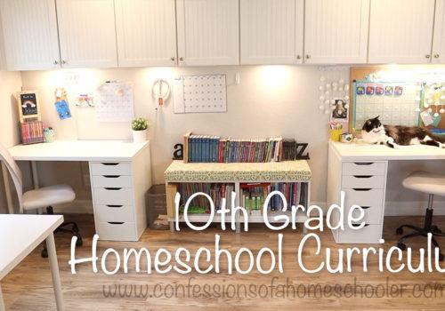 2021-2022 10th Grade Homeschool Curriculum