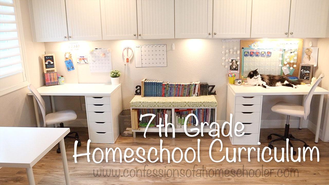 2021-2022 Homeschool Curriculum / 7th Grade