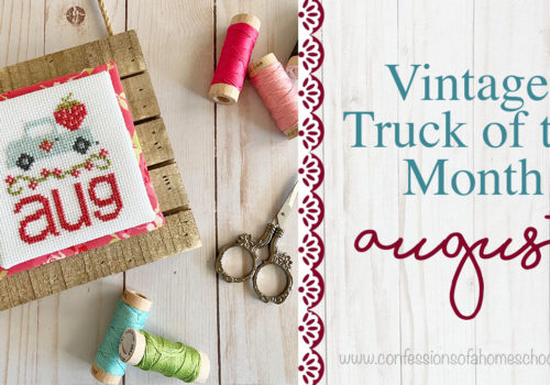Vintage Truck of the Month: August Cross Stitch