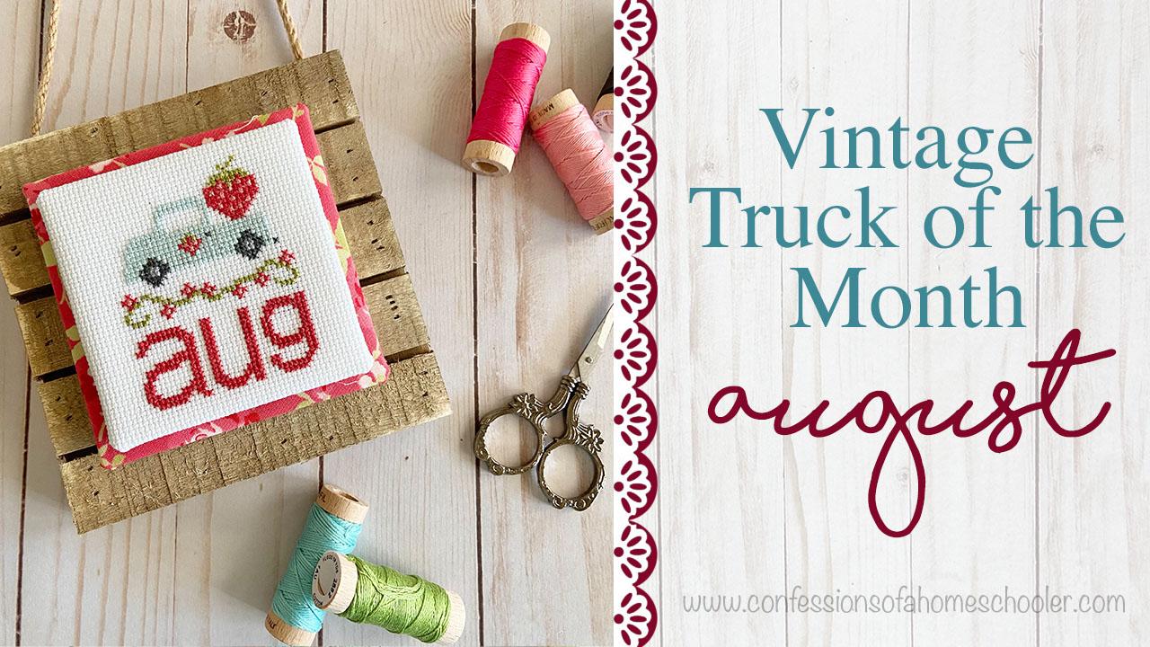 Vintage Truck August Cross Stitch