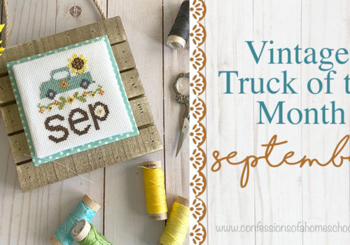 Vintage Truck of the Month: September Cross Stitch