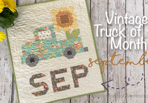 Vintage Truck of the Month: September Quilt Pattern